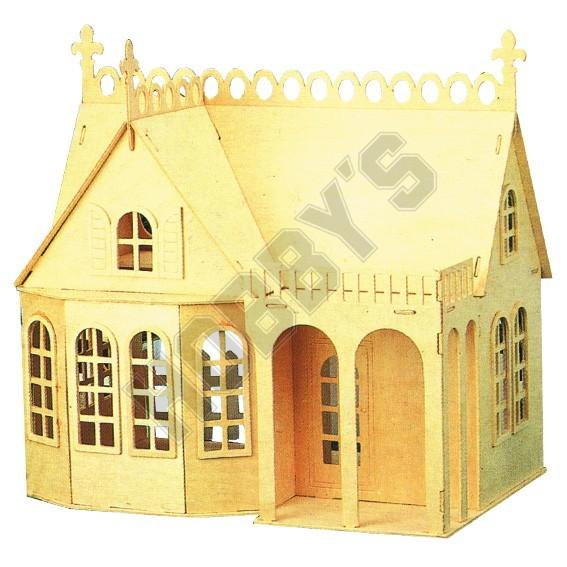 The Lodge Wooden Dolls Hous Dolls House Dolls House