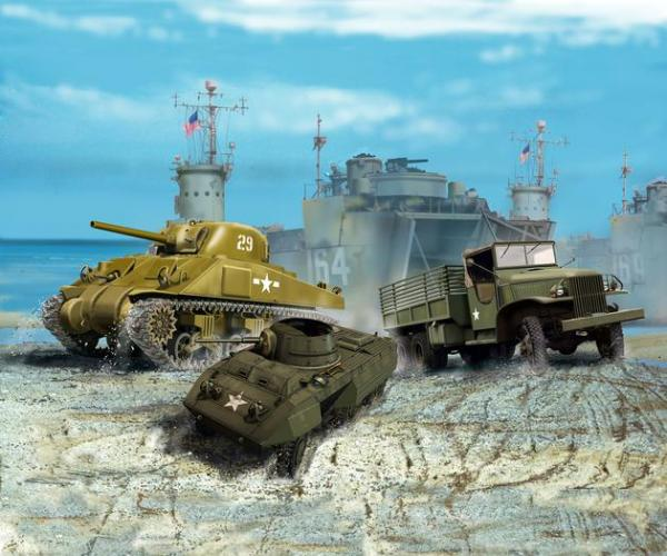 Revell Us Army Vehicles Ww2 1 144 Revell Military Kits