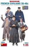 MINIART 1/35 FRENCH CIVILIANS 30S/40S