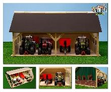 Wooden Tractor Shed Kids Globe 1 32 Farm Models