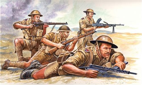Italeri Ww2 Brit 8th Army Military Figures 1 72
