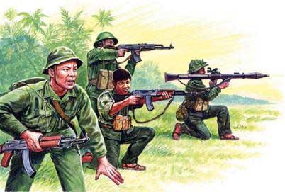 Italeri Vietnam War Vietnam Military Figures 1 72