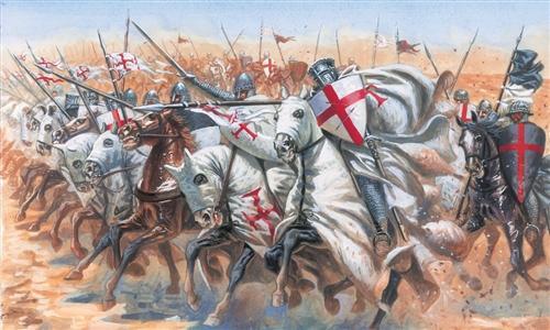 Italeri Medieval Templar Kn Military Figures 1 72