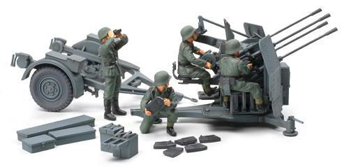 Tamiya German 20mm Flak Vierling 1 48 Military Vehicles